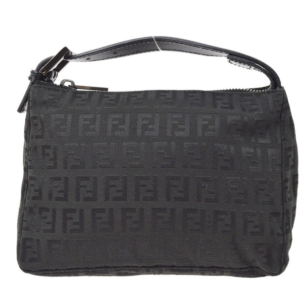FENDI Zucca Pattern Hand Bag Black