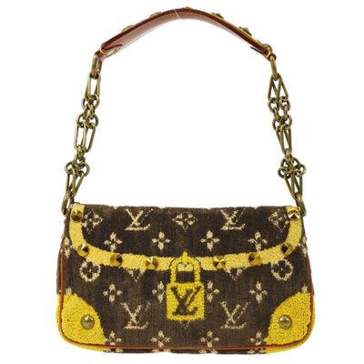 LOUIS VUITTON TROMPE L'OEIL TROCADERO CHAIN BAG VELVET MARRON M92711