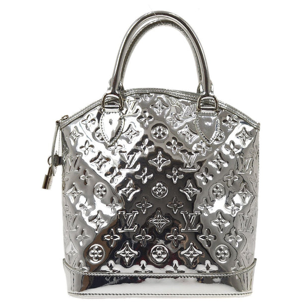 LOUIS VUITTON LOCKIT HAND BAG ARGENT MONOGRAM MIROIR M95449