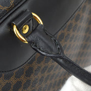 CELINE Macadam Hand Bag Black Brown
