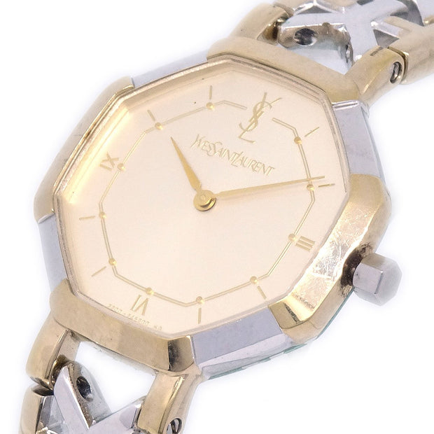 YVES SAINT LAURENT 2200-241762YO Ladies Quartz Wristwatch Watch SS