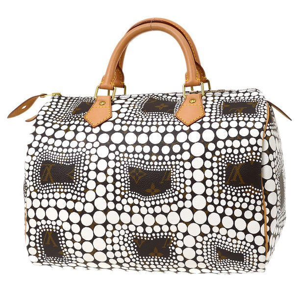 LOUIS VUITTON SPEEDY 30 HAND BAG MONOGRAM TOWN WHITE KUSAMA YAYOI M40690