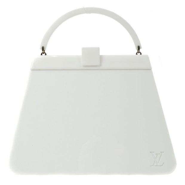 LOUIS VUITTON NIGHT CLUBBER PLASTIC HAND BAG WHITE M92221
