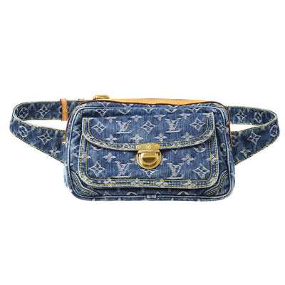 LOUIS VUITTON BUM BAG WAIST INDIGO MONOGRAM DENIM M95347