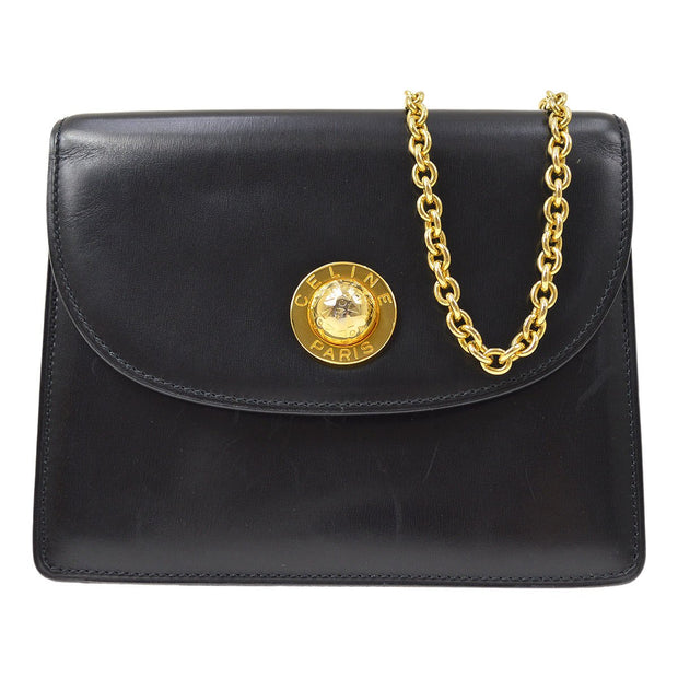 CELINE Chain Shoulder Bag Black