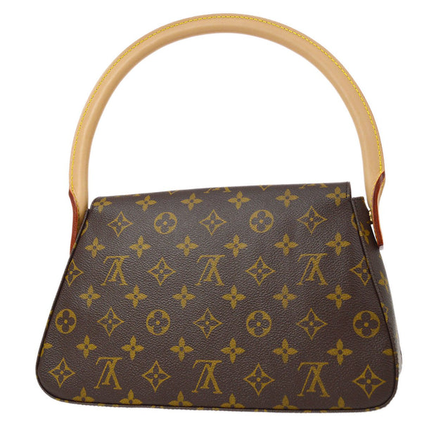 LOUIS VUITTON MINI LOOPING HAND BAG MONOGRAM M51147