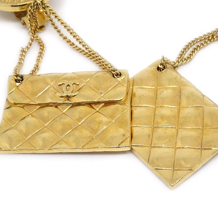CHANEL Bag Shaking Earrings Clip-On Gold 29