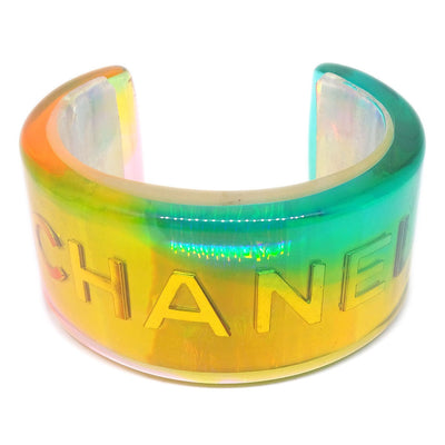 CHANEL Bangle Plastic Yellow Blue Pink 97P