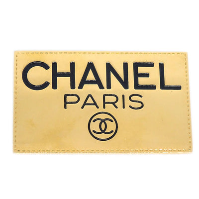 CHANEL Plate Brooch Pin Corsage Gold