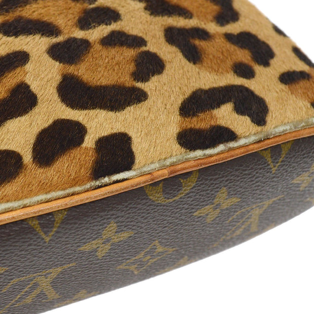 LOUIS VUITTON AZZEDINE ALAIA LEOPARD ALMA HAND BAG ATTACHED POUCH BAG