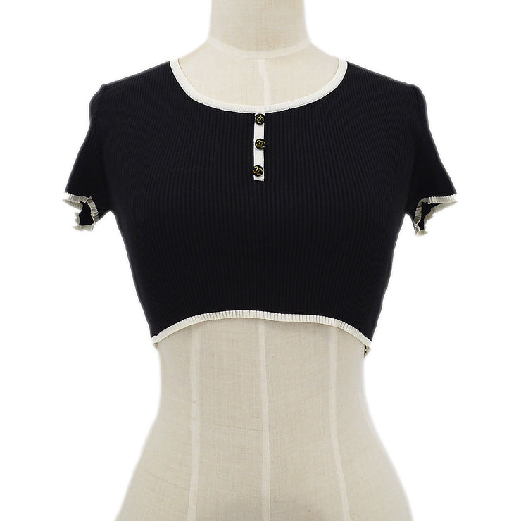 CHANEL 95P #40 Short Sleeve Mini T-Shirt Black