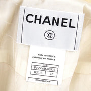 CHANEL 02P #42 Single Breasted Jacket Ivory