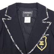 CHANEL 05C #36 Single Breasted Jacket Black