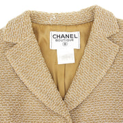 CHANEL #38 Single Breasted Jacket Beige