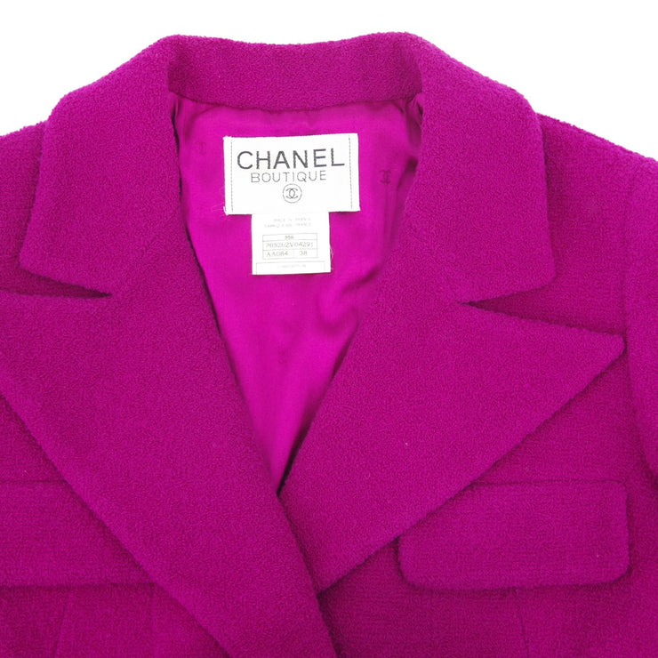 CHANEL 95A #38 Double Breasted Jacket Purple