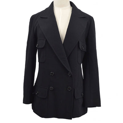 CHANEL 97P #38 Double Breasted Jacket Black