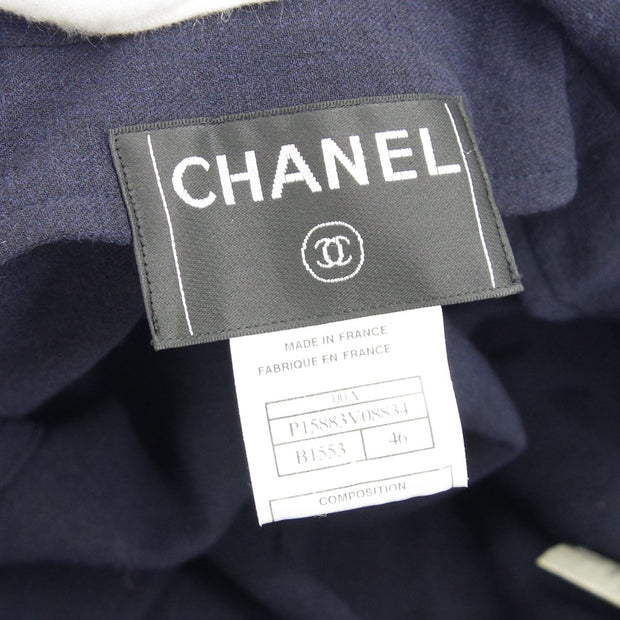 CHANEL 00A #46 Long Coat Gray