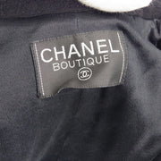CHANEL Long Coat Black