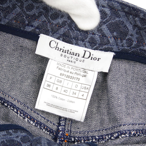 Christian Dior 6P12033170 Flight Trotter Pattern Skirt Indigo