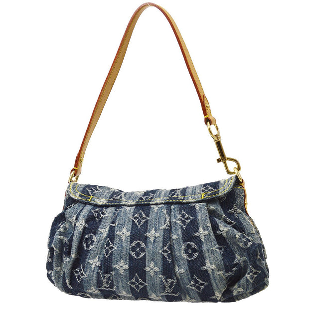 LOUIS VUITTON MINI PRETTY RAYE HAND BAG MONOGRAM DENIM M95333