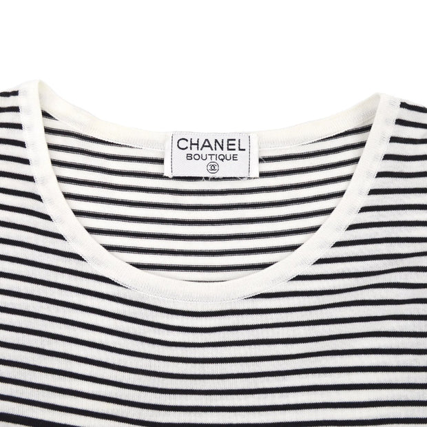 CHANEL #40 Border T-Shirt Black White
