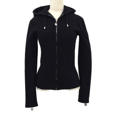 CHANEL 03A #34 Sports Line Zip-up Tops Black