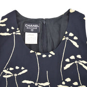 CHANEL 98P #38 One Piece Dress Skirt Black