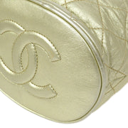 CHANEL Bucket Fringe Chain Shoulder Bag Gold