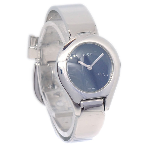 GUCCI 6500L Ladies Quartz Wristwatch Watch Stainless steel Silver