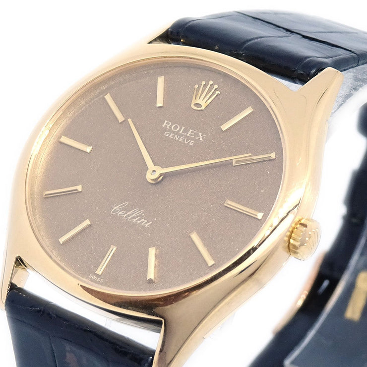ROLEX GENEVE Cellini Ref.3806 Men's Manual-winding Wristwatch Watch K18
