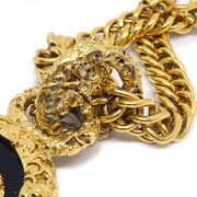 CHANEL Gold Chain Medallion Necklace 93A