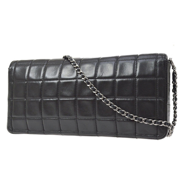 CHANEL Choco Bar Chain Shoulder Bag Black