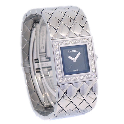 CHANEL Matelasse Ladies Quartz Wristwatch Watch Diamond