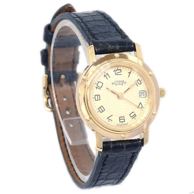 HERMES Clipper Date CL4.285 Ladies Quartz Wristwatch Watch