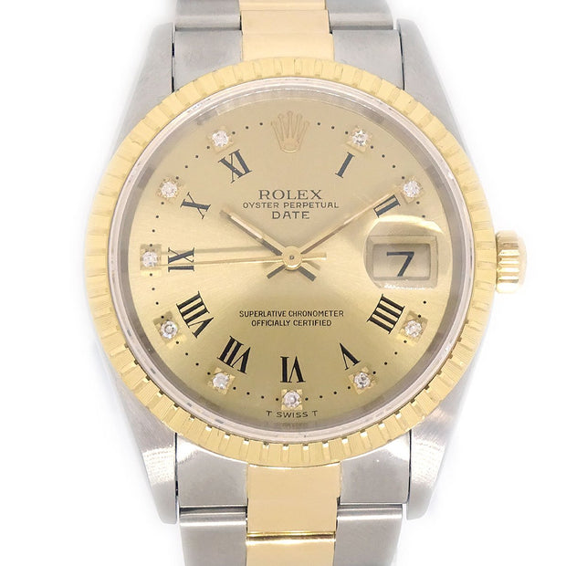ROLEX OYSTER PERPETUAL DATEJUST Ref.15223g Self-winding Wristwatch Watch