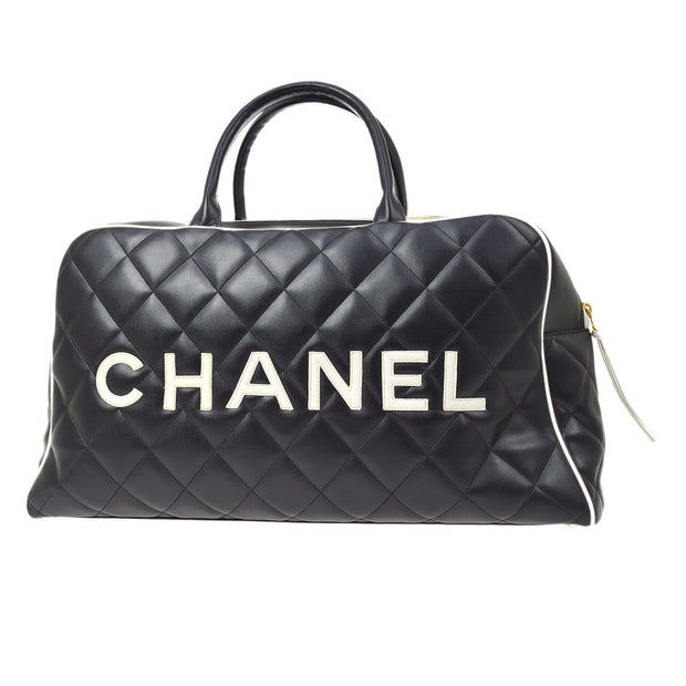 CHANEL Duffle Boston Hand Bag Black