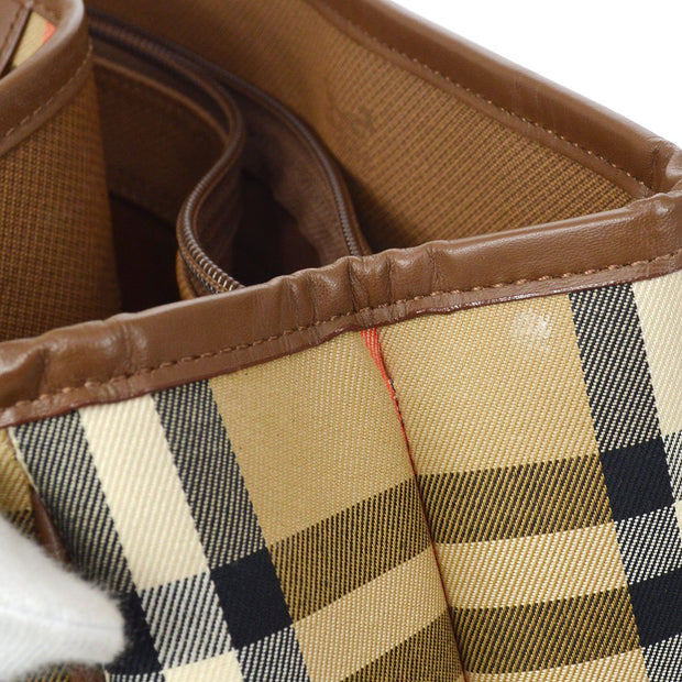 BURBERRY House Check Hand Tote Bag Beige