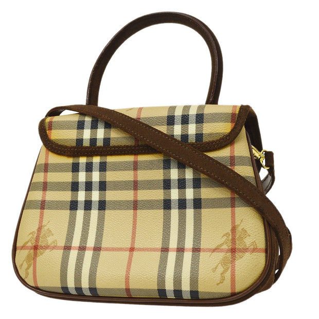 BURBERRY'S House Check 2way Hand Shoulder Bag Beige