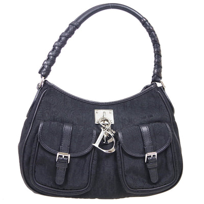 Christian Dior Lady Dior Trotter Hand Bag Black