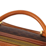 CELINE Macadam Hand Bag Brown