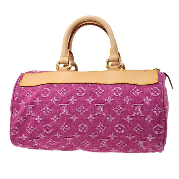 LOUIS VUITTON NEO SPEEDY HAND BAG FUCHSIA MONOGRAM DENIM M95214