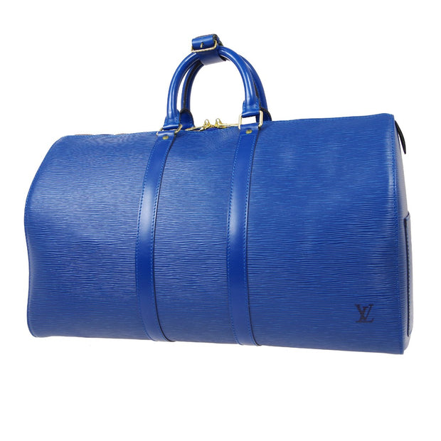 LOUIS VUITTON KEEPALL 45 TRAVEL HAND BAG BLUE EPI M42975