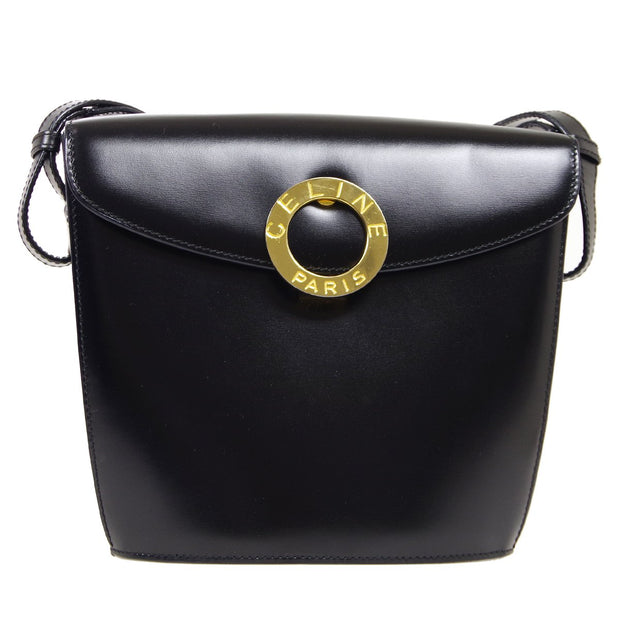 CELINE Ring Shoulder Bag Black