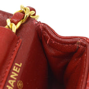 CHANEL Classic Flap Micro Bag Pouch Red