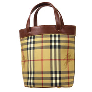BURBERRY House Check Hand Bag Beige