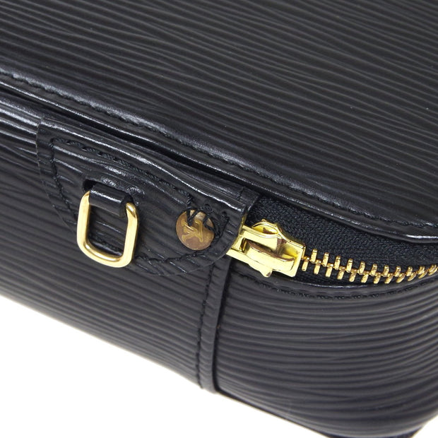 LOUIS VUITTON POCHE MONTECARLO JEWELRY CASE BLACK EPI M48362