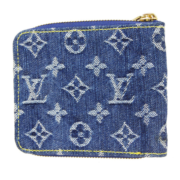 LOUIS VUITTON MINI ZIPPY WALLET MONOGRAM DENIM INDIGO M95342