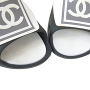 CHANEL Sport line Sandals Shoes Gray White #39