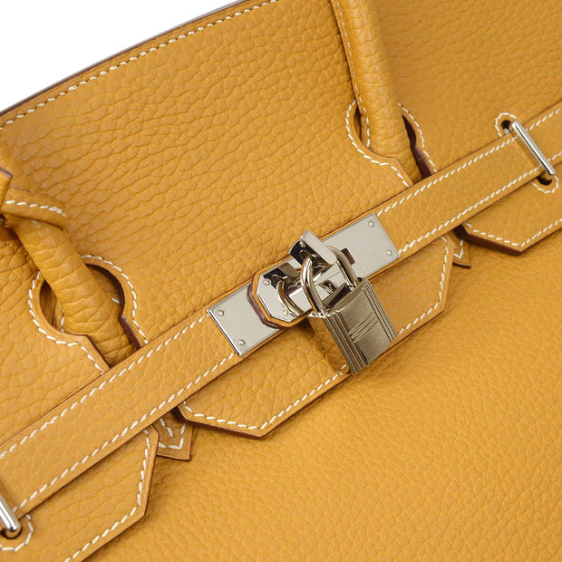 HERMES HAUT A COURROIES 36 Hand Bag Natural sable Fjord