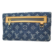 LOUIS VUITTON POCHETTE PRATT CLUTCH BAG MONOGRAM DENIM M95007